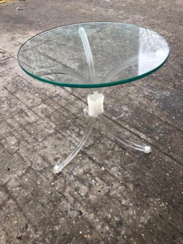 LUCITE SIDE TABLE