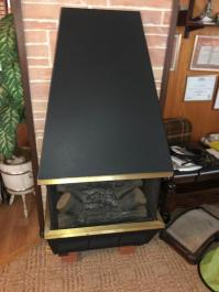 MID CENTURY ELECTRIC FIREPLACE