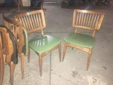 MID CENTURY GREEN CHAIRS