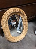 WICKER MIRROR SMALL