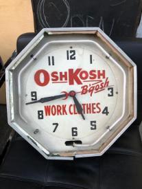 OSH KOSH NEON CLOCK