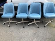 POWDER BLUE DINING CHAIRS MID CENTURY