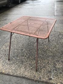 METAL OUTDOOR FOLDING TABLE