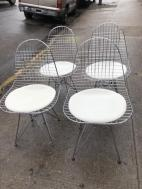 MID CENTURY WIRE CHAIRS