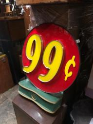 99 CENT STORE SIGN