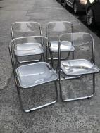 ITALIAN LUCITE CHAIRS