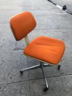 MID CENTURY DESK CHAIR ORANGE