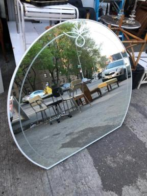 ROUND ETCHED MIRROR