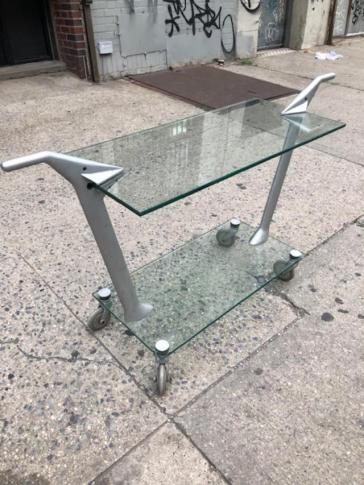 GLASS BAR CART2