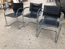 LEATHER CANTIVER CHAIRS