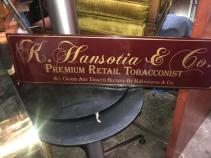 TOBACCO METAL SIGN