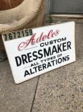 VINTAGE DRESS MAKER SIGN
