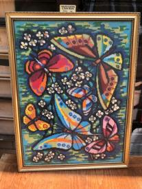 BUTTERFLY NEEDLEPOINT