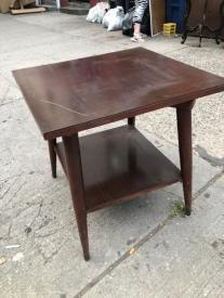 MID CENTURY SWIVEL TABLE