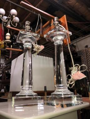 GLASS RESTORATION HARDWARE LAMPS