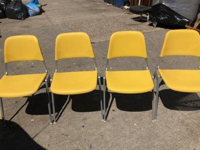 KNOLL YELLOW CHAIRS