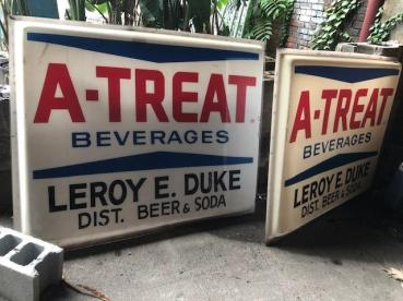 LARGE VINTAGE SIGN APPROX 50X50 INCHES