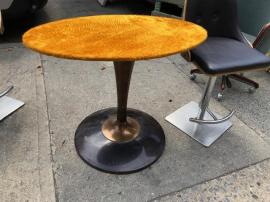MID CENTURY PLUSH BAR TABLE
