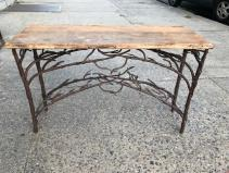 WROUGHT IRON ENTRANCE TABLE