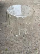 CLEAR LUCITE SIDE TABLE