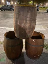 LARGE WOOD BARRELS