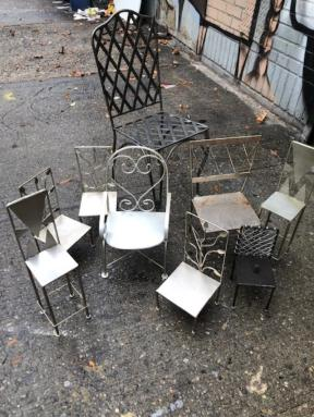 MINI METAL CHAIRS
