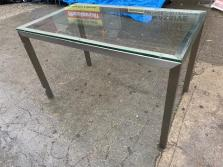CB2 GLASS DINING TABLE