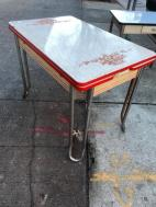 ENAMEL TOP DINING TABLE