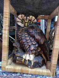 LARGE PORCELAIN OWL