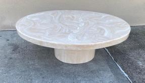 ROUND STONE COFFEE TABLE