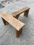 RUSTIC WOOD BENCH