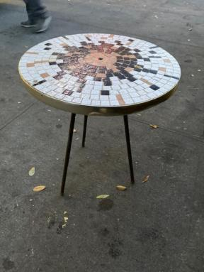 TILE TOP MID CENTURY TABLE
