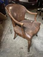 ANTIQUE LEATHER LAWYERS CHAIR