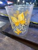 BUTTERFLY GARBAGE CAN
