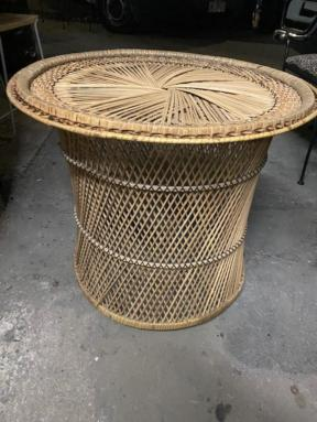 LARGE RATTAN TABLE