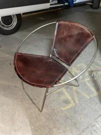 LEATHER HOOP CHAIR