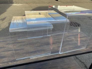 NESTING LUCITE TABLES