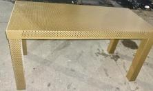PERFORATED METAL COFFEE TABLE