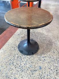 BRASS TOP DINING TABLE