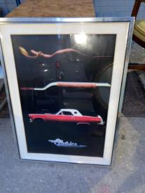 FRAMED CAR POSTER