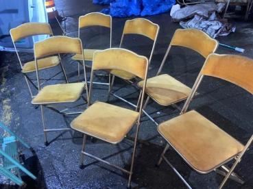GOLD VELVET FOLDING CHAIRS