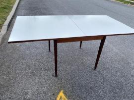 MID CENTURY EXPANDING TEAK TABLE OPEN