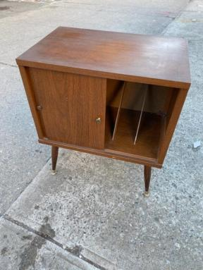 MID CENTURY RECORD CABINET
