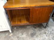 MID CENTURY RECORD CABINET INSIDE