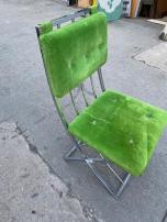 MILO GREEN VELVET CHAIR 2
