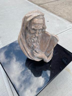 MOSES AND TABLET STATUE