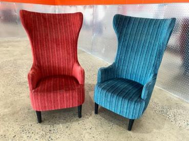 VELVET WING CHAIR