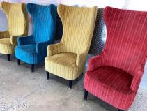 VELVET WING CHAIRS