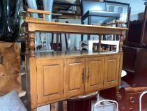 VINTAGE BUFFET ON WHEELS