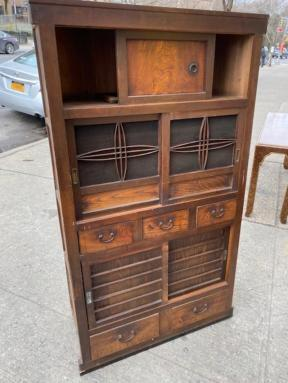 ANTIQUE CABINET SLIDING DOORS